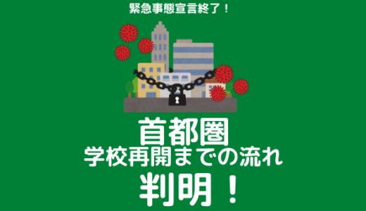 【コロナ】首都圏の学校再開までの流れが判明!