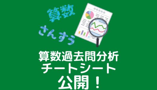 【中学受験】算数用の過去問分析シートの公開