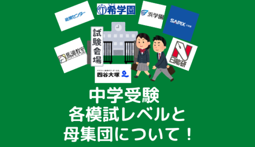 【必見】中学受験の各模試レベルと母集団について!