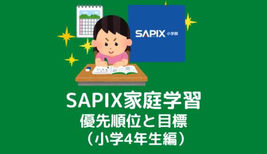 SAPIX家庭学習の優先順位と目標(小学4年生編)